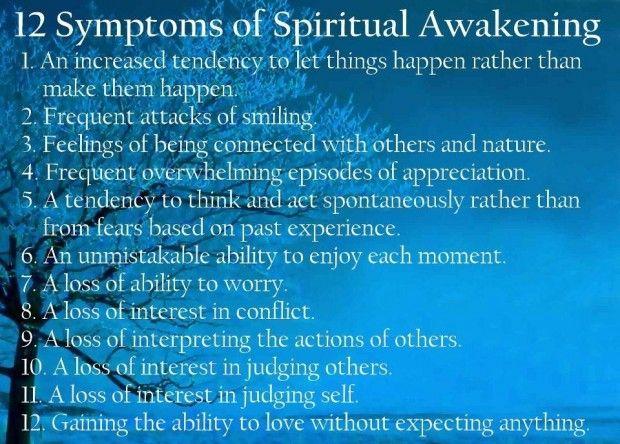 12 Symptoms of Spiritual Awakening via wordsonimages #Illustration