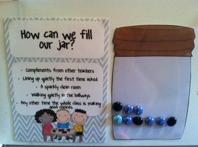 Classroom Jar Ideas : Positive incentives for the classroom fill jar earn