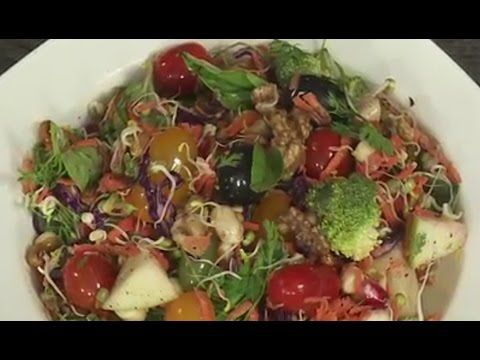 how to make delicious Healthy Rainbow Salad EASY FOOD RECIPES