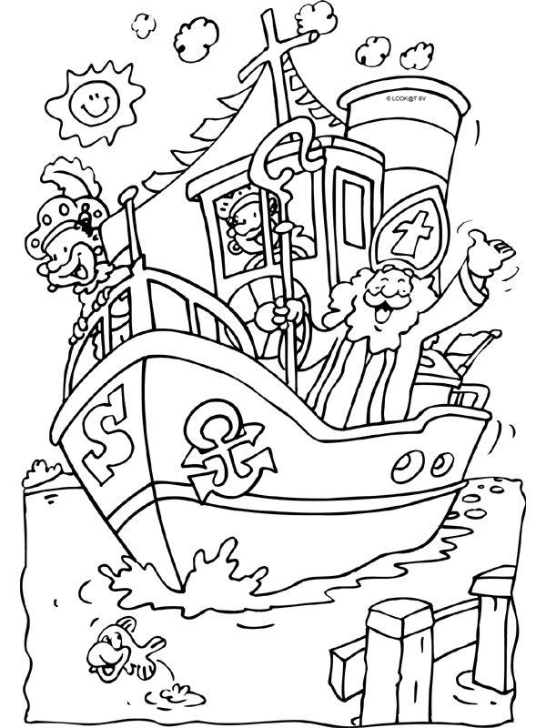 Stoomboot van Sinterklaas - Knutselpagina.nl - knutselen, knutselen en nog eens knutselen.