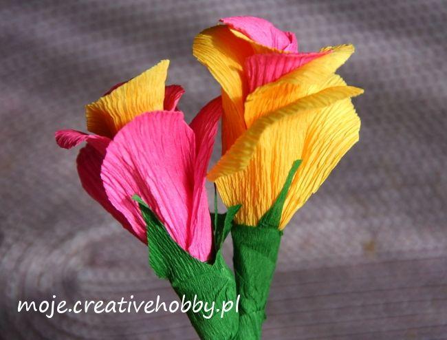 Krepinowe kwiatki dzięki swojej uniwersalności nadają się na każdą okazję.