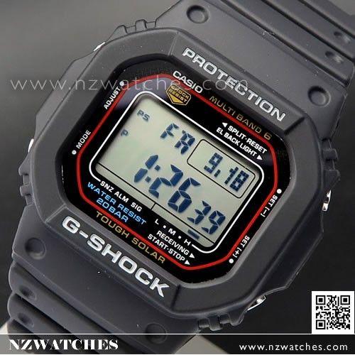 Casio G-Shock Solar 200M Multi-band 6 Atomic Sport Watch GW-M5610-1, GWM5610