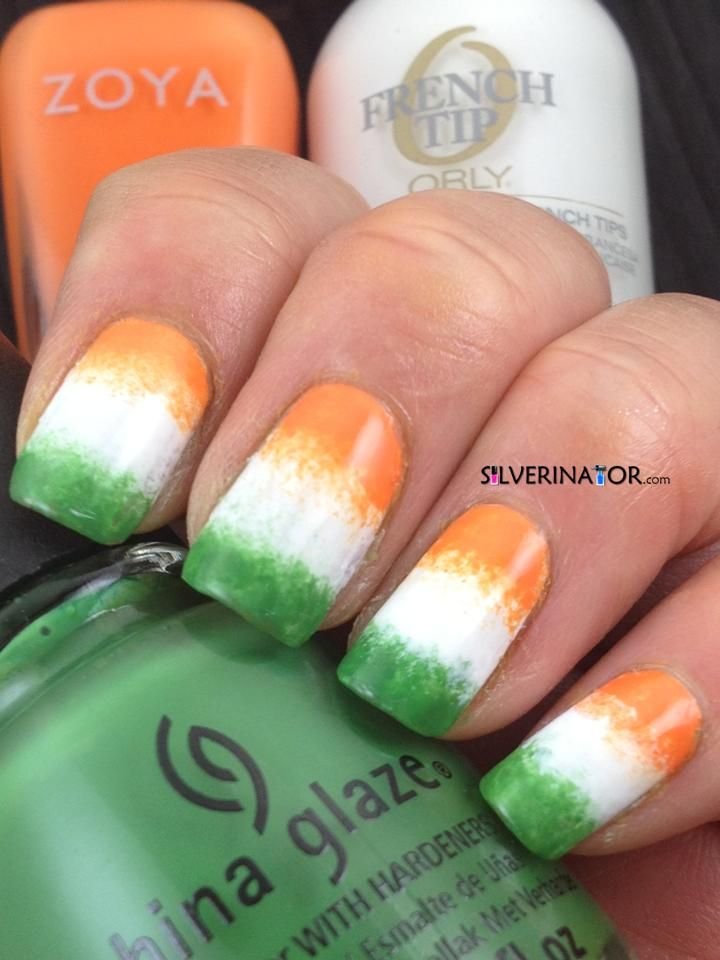 Irish Flag - 127 Best St. Patrick's Day Nail Design Images On Pinterest