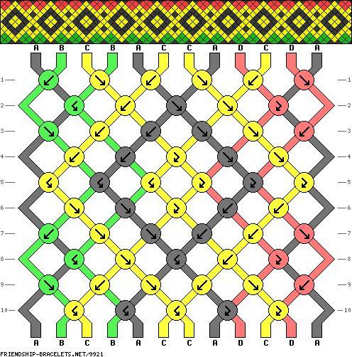 Patrones para hacer pulseras de Macramé en imágenes.