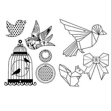 Plastique dingue - Kit sautoirs - Oiseaux: