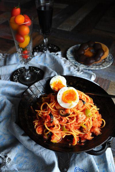 常備食材で シャキシャキうまいパスタ カニ缶×オリーブ & エバラ焼肉の