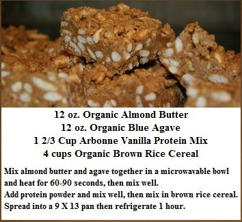 Arbonne Almond Butter and Agave Rice Cereal Protein Bars