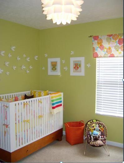 Simplity Small nursery Small Nursery Ideas:Decorating Ideas for a Small Babys Room