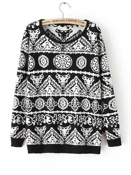 Cashmere sweater retro round neck pullover tops CY-E920L5