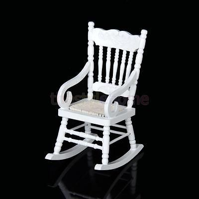Classic-White-Wooden-Rocking-Chair-Fit-1-12-Dollhouse-Miniature-Living-Room