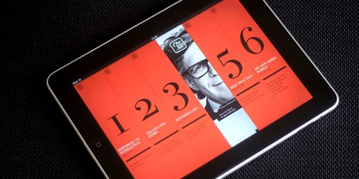 Digital magazine idee menu