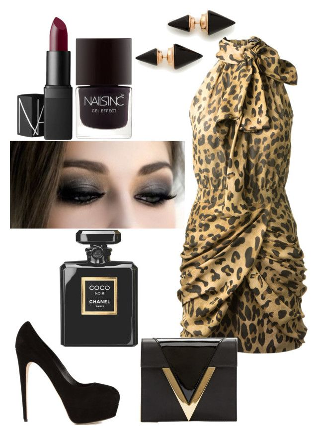 Neda Lotfian #•4 by neda-lotfian on Polyvore featuring polyvore, fashion, style, Balmain, Brian Atwood, Versus, Vita Fede, NARS Cosmetics, Chanel, Nails Inc. and clothing