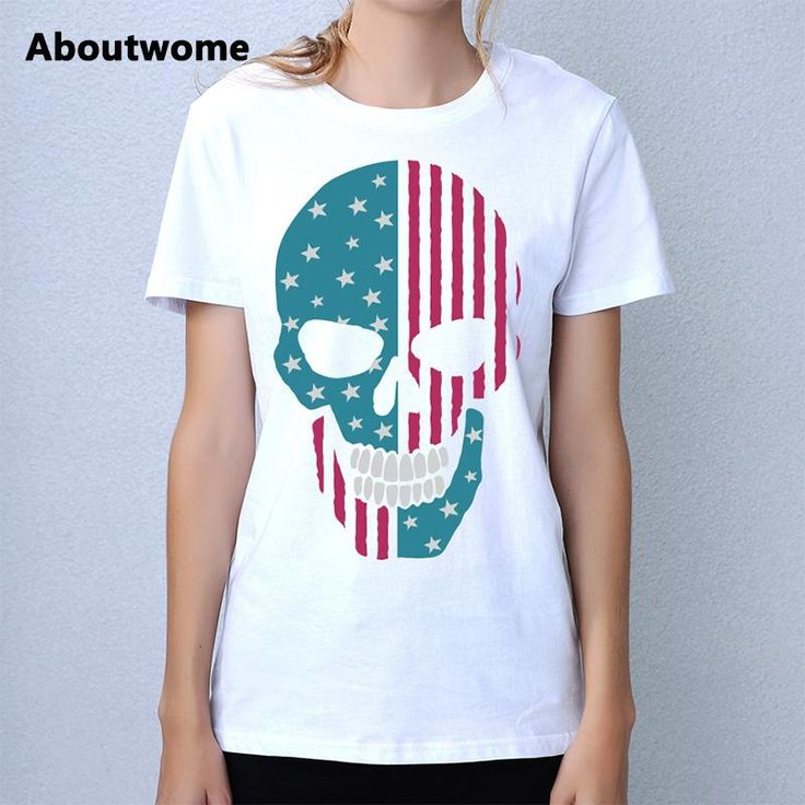 Check out our new item Skull t shirts wo.... Just added today get it here http://everythingskull.com/products/skull-t-shirts-women-flag-culture-ladies-tops-stripe-stars-tee-youth-cool-t-shirt-short-sleeve-o-neck-tops-casual-cotton-tshirt?utm_campaign=social_autopilot&utm_source=pin&utm_medium=pin
