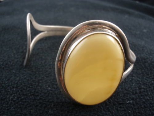 Obecnie na aukcjach #Catawiki: Sterling Silver and Baltic Amber bracelet