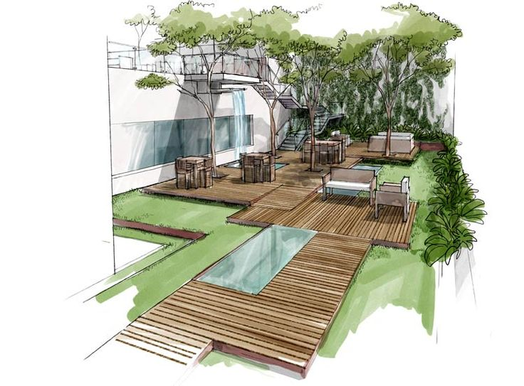 501 best art architectural art images on pinterest for Garden design sketches