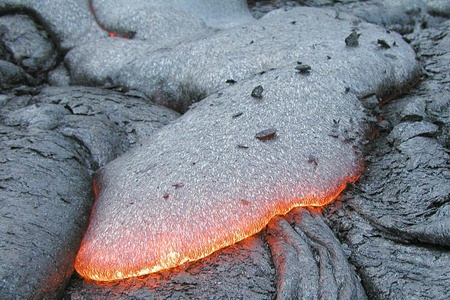 The Hawaiian Islands are almost entirely built from basalt lava, the most common rock on Earth.