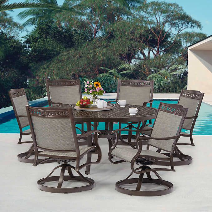 Get up to $250 in rewards! Agio Cullman 7-piece Sling Dining Set in 2021   Sling