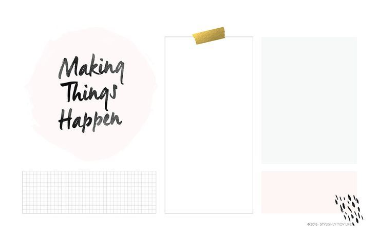 Making Things Happen: Organizational Desktop Wallpaper + Free Download