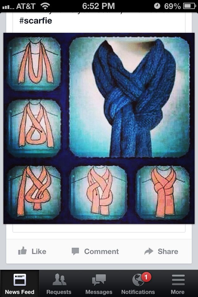 Love this way to tie a scarf