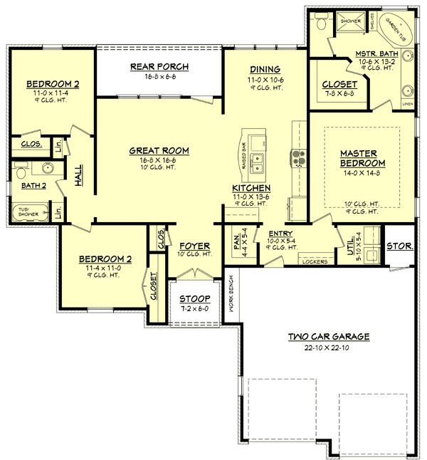 50 best house plans under 1800 sq ft images on pinterest for 1800 sq ft open floor plans