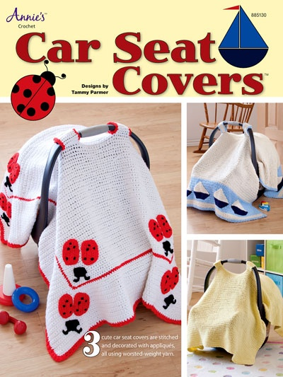 Babys Crochet Cart Seat Cover Pattern at Annies