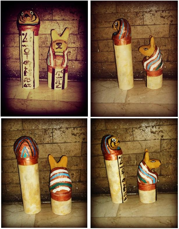 Canopic jars from pringle tubes