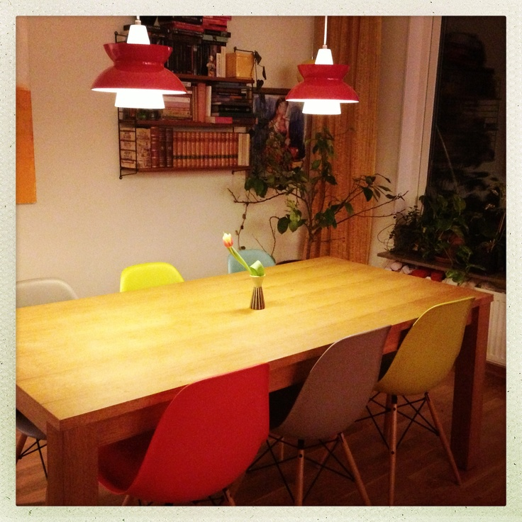#Eames #dining room #Louis Poulsen #Teak #String