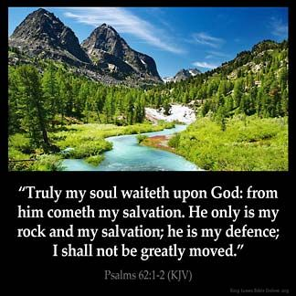 Inspirational Image for Psalms 62:1-2