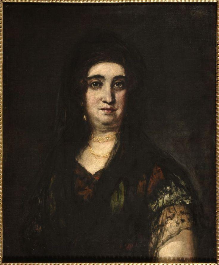 Francisco de Goya y Lucientes - Mujer con mantilla, ca.1824-25, Óleo sobre lienzo, 61×51 cm, Museo de Zaragoza, Zaragoza, España