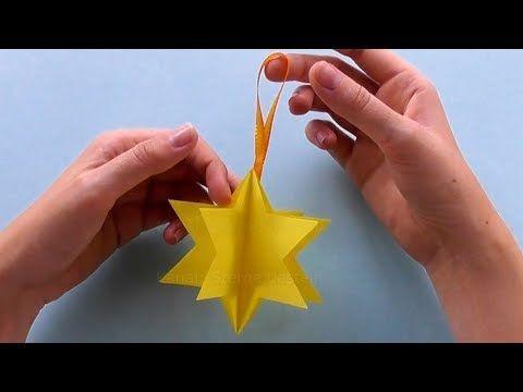 Come fare una stella di natale di carta Idee per decorazioni di natale - YouTube
