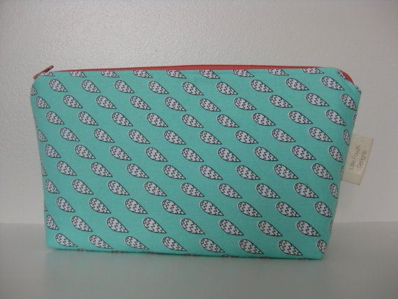Cloudy Day Cosmetic Pouch by LittleFawnDesigns on Etsy, $22.00  'I heart #littlefawndesigns'
