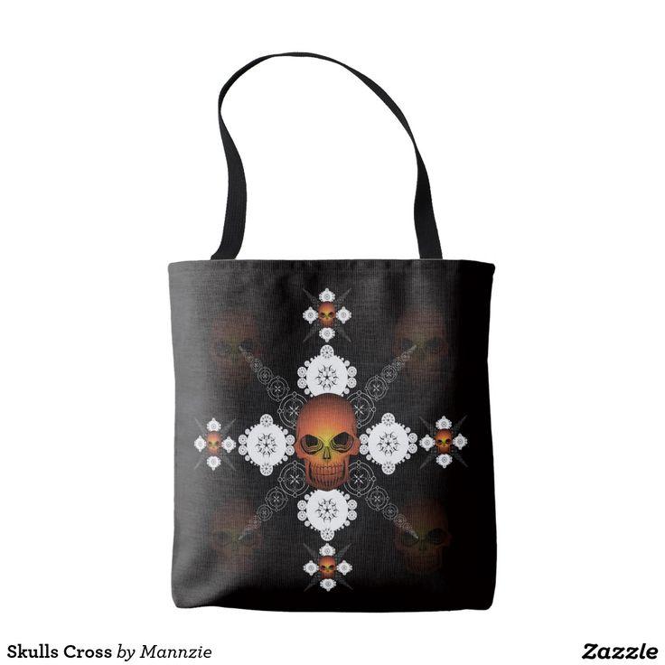 Skulls Cross Tote Bag
