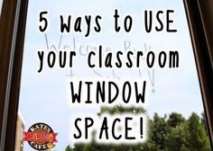 Kate's Science Classroom Cafe: 5 Ways to Use Classroom Window Space