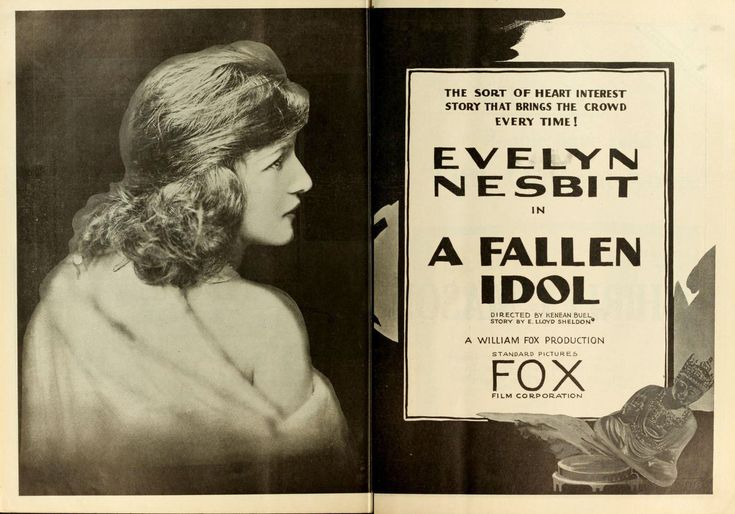 "Evelyn Nesbit ""A Fallen Idol"" dir by Kenean Buel 1919"