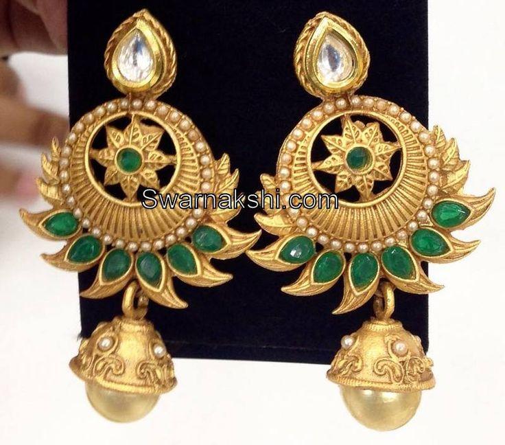 1 gram gold kundan emerald stone chand bali earrings buy online http://swarnakshi.com/shop/ear-rings/1-gram-gold-kundan-emerald-stone-chand-bali-earrings-buy-online/ or whatsap to 09581193795 for order processing