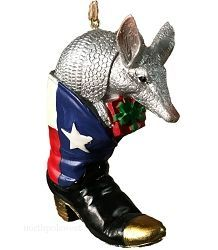 Armadillo Christmas Ornament- Armadillo in Cowboy Boot ...