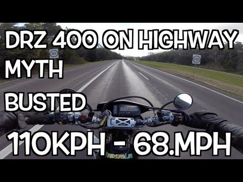 DRZ 400 on freeway / highway - MYTH BUSTED - THE TRUTH - YouTube
