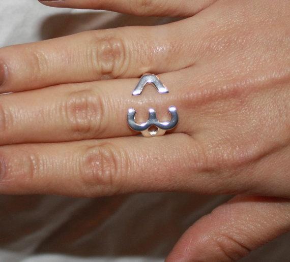 Open Heart Emoji Ring by dollieLINKS on Etsy, $15.00