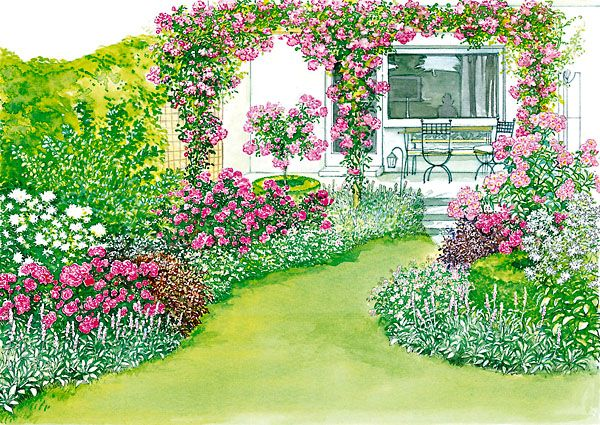 ideen f r einen reihenhausgarten garten. Black Bedroom Furniture Sets. Home Design Ideas