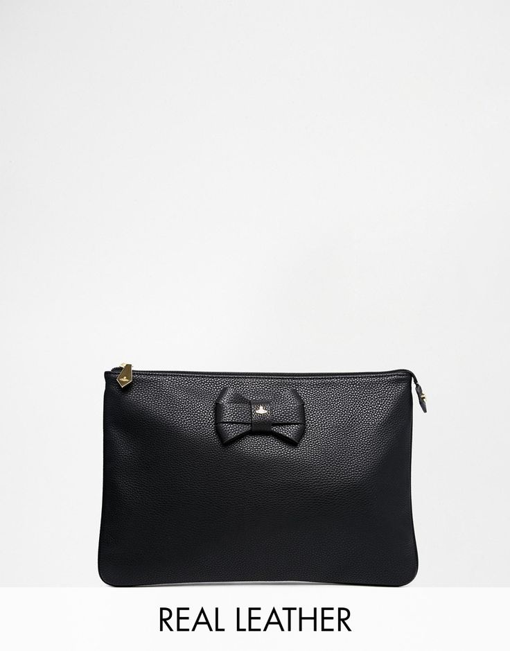 Vivienne+Westwood+Leather+Clutch+Bag+in+Black