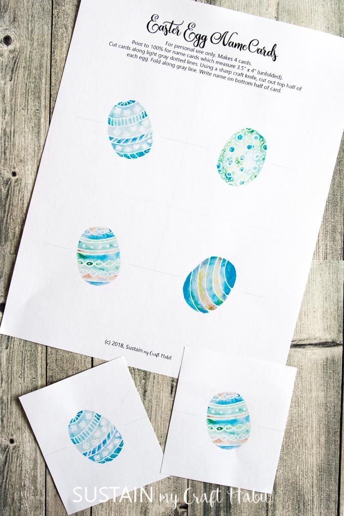 Easter Egg Place Cards Printable Free Place Card Template Place Card Template Easter Place Cards