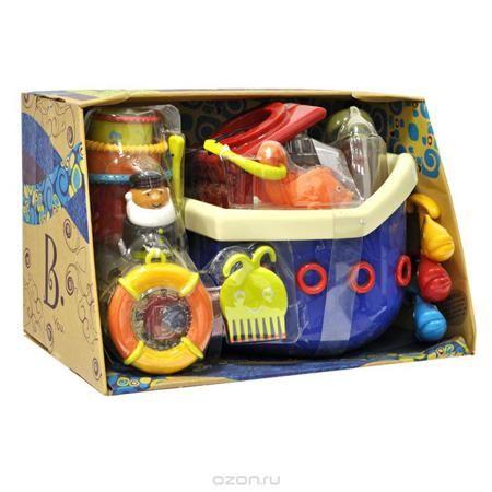 """Набор игрушек для ванны """"Fish & Squish""""  — 4350р. -------------- Набор игрушек для ванны """"Fish & Squish"""" превратит купание в веселую игру! Набор включает в себя плавающий корабль с палубой, капитанским мостиком и капитаном, рыболовный крючок, четыре рыбки разных цветов, спасательный круг на текстильной веревочке, гребешок в виде осьминога, рыбку-щеточку для ногтей и три стаканчика разного диаметра с рельефными краями. После купания игрушки можно сложить под палубу корабля, благодаря чему они…"""