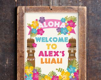 Luau Party Invitation Hawaiian Party by SunshineParties on Etsy