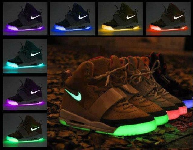 Air Yeezy Coffee Pink Glow In The Dark Brown Pink Noctiluc shoes