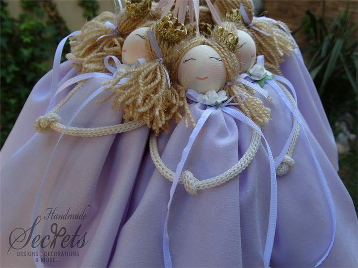 Μπομπονιέρες βάπτισης μοβ πριγκίπισσα