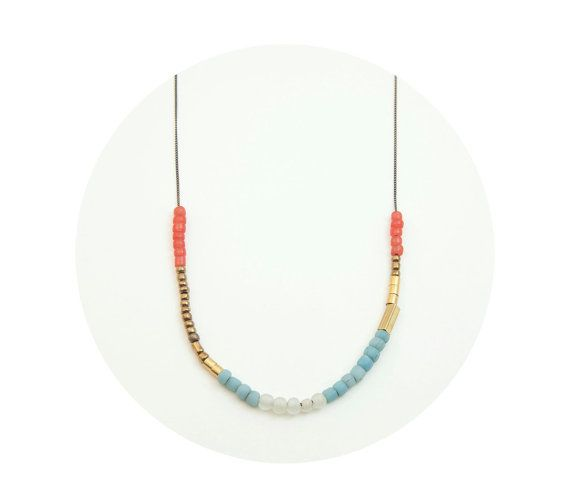 Colorful Beaded Tribal Necklace  Bright Summer by BohemianFringe, $32.00