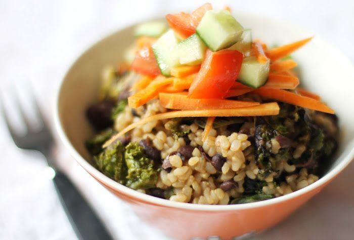 Bönor och ris med grönkål. Grymt recept!