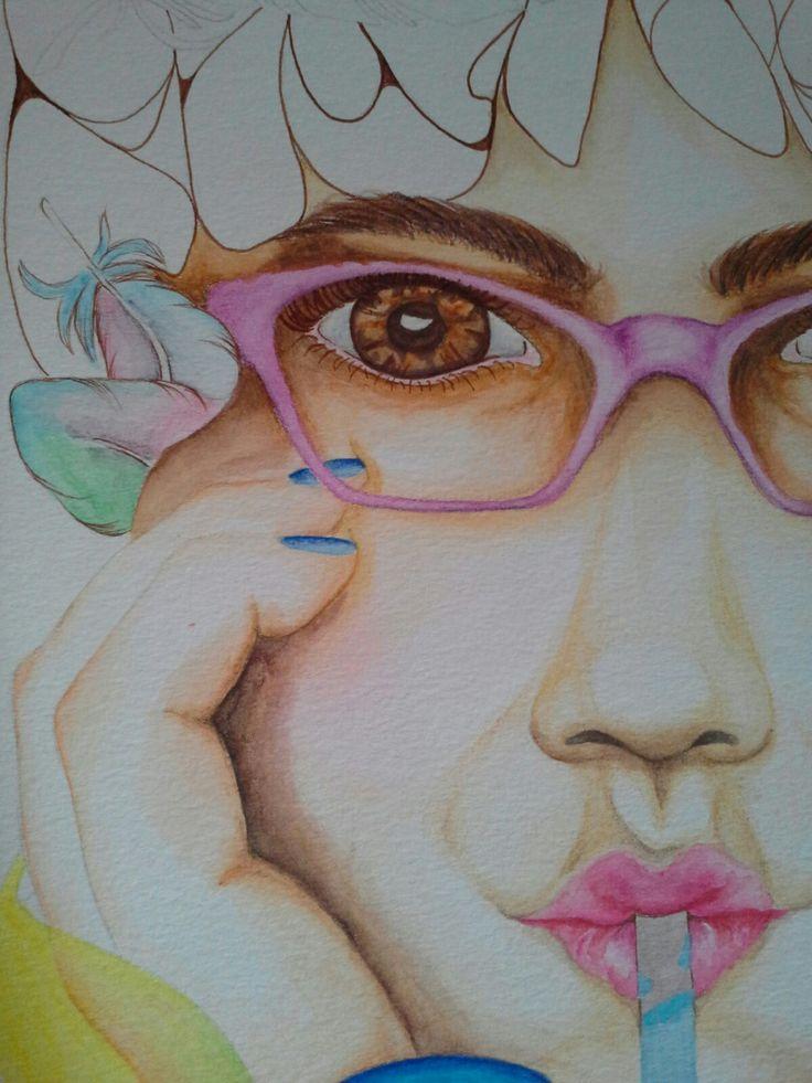 Ilustracion en acuarelas #mavitz #ilustración #dibujo #art