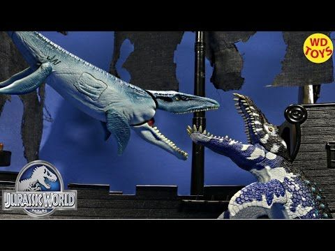 New Animal Planet Deep Sea Adventure Liopleurodon Vs Mosasaurus Jurassic World Unboxing - YouTube