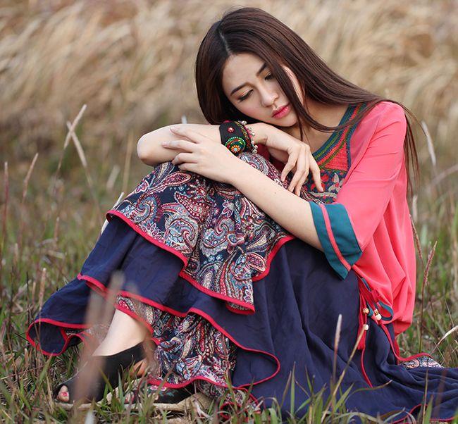 Rare ethnic embroidery dress